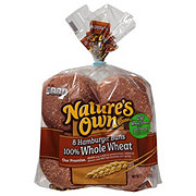 Nature's Own 100% Whole Wheat Hamburger Buns