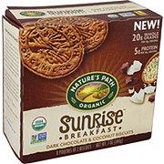 Nature's Path Organic Sunrise Breakfast Dark Chocolate & Coconut Biscuits