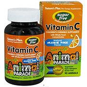 Nature's Plus Animal Parade Children's Vitamin C Sugar Free Orange Juice Flavored Chewables