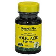 Nature's Plus Folic Acid 800 mcg Tablets