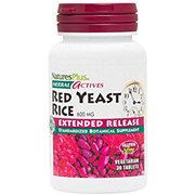 Nature's Plus Herbal Actives Red Yeast Rice 600 mg Tablets