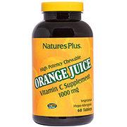 Nature's Plus Orange Juice Vitamin C 1,000 mg High Potency Chewable Tablets