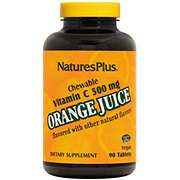 Nature's Plus Orange Juice Vitamin C 500 mg Chewable Tablets