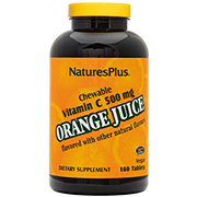 Nature's Plus Orange Juice Vitamin C 500 mg High Potency Chewable Tablets