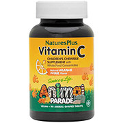 Nature's Plus Source of Life Animal Parade Vitamin C Natural Orange Juice Flavor Chewable Tablets