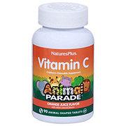 Nature's Plus Source of Life Animal Parade Vitamin C Natural Orange Juice Flavor Chewable Tablets