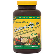 Nature's Plus Source of Life Multivitamin & Mineral No Iron Tablets