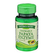 Nature's Truth Chewable Papaya Enzyme Tablets