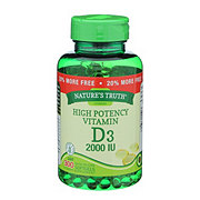 Nature's Truth High Potency Vitamin D3 2000 IU