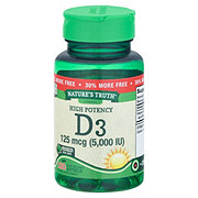 Nature's Truth High Potency Vitamin D3 5000 IU