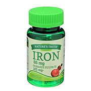 Nature's Truth Iron 65 mg Ferrous Sulfate 325mg