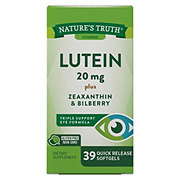 Nature's Truth Lutein 20 mg plus Zeaxanthin & Bilberry