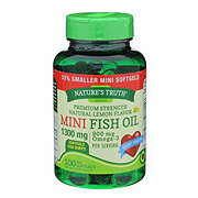 Nature's Truth Mini Fish Oil 1300 mg Lemon