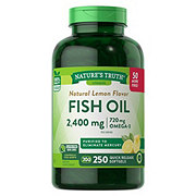 Nature's Truth Omega-3 Fish Oil 1200 mg Natural Lemon Flavor