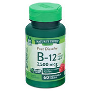 Nature's Truth Vitamin B-12 2,500 mcg plus Folic Acid
