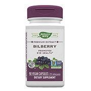 Nature's Way Premium Extract Bilberry Standardized Capsules
