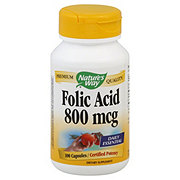 Nature's Way Premium Quality Folic Acid 800 mcg Capsules Certified Potency
