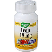 NATURES WAY 18 Mg. Iron Capsules