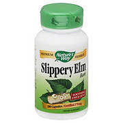 Natures Way Slippery Elm Bark 370 mg Capsules