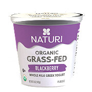 Naturi Organic Whole Milk Blackberry Greek Yogurt