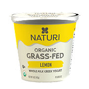 Naturi Organic Whole Milk Lemon Greek Yogurt