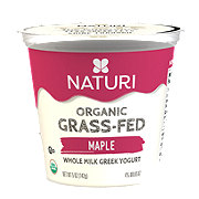 Naturi Organic Whole Milk Maple Greek Yogurt