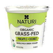 Naturi Organic Whole Milk Pineapple Coconut Greek Yogurt