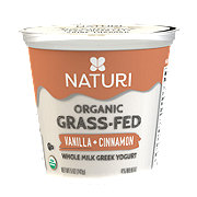 Naturi Organic Whole Milk Vanilla Cinnamon Greek Yogurt