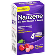 Nauzene Chewable Tablets Wild Cherry Flavor