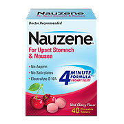 Nauzene For Nausea Wild Cherry Flavor Chewables Tablets