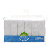 Neat Solutions 12 Pack Solid Knit Terry Washcloth Set