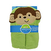 Neat Solutions Monkey Woven Terry/Interlock Applique/Print Hooded Towel And Washcloth Set