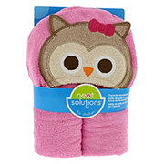 Neat Solutions Owl 3D Character Woven Terry Hooded Wrap