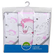 Neat Solutions Unicorn Hooded Towel Set