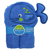 Neat Solutions Whale 3D Character Woven Terry Hooded Bath Wrap