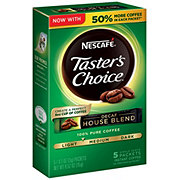 Nescafe Tasters Choice Decaf House Blend Light-Medium Roast Instant Coffee Packets