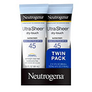 Neutrogena Ultra Sheer Dry-Touch Sunscreen Broad Spectrum SPF 45 2 pk