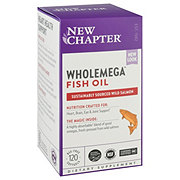New Chapter Wholemega Whole Fish Oil 1,000 mg Softgels