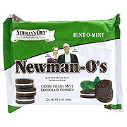 Newmans Own Organics Newman-os Creme Filled Mint Chocolate Cookies