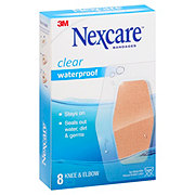 Nexcare Waterproof Knee And Elbow Clear Bandages