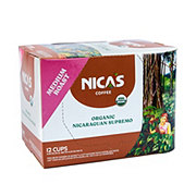 Nica's Coffee Organic Coffee Medium Roast Single Serve Coffee Cups