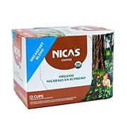 Nica's Coffee Organic Light Roast Single Serve Coffee Cups
