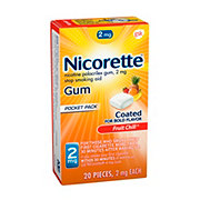 Nicorette Gum 2 mg Stop Smokin Aid Fruit Chill