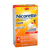 Nicorette Gum 4 mg Stop Smoking Aid Fruit Chill