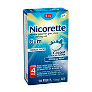 Nicorette Gum 4 mg Stop Smoking Aid White Ice Mint