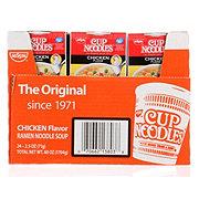 Nissin Cup Noodles Chicken Flavor Ramen Noodle Soup 24 CT
