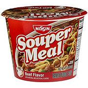 Nissin Souper Meal Beef Flavor Minestrone Ramen Noodle Soup