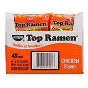 Nissin Top Ramen Chicken Flavor Ramen Noodle Soup 48 CT