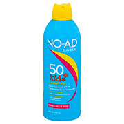 NO-AD Kids Waterproof Hypoallergenic Broad spectrum UVA/UVB Sunscreen Spray SPF 50