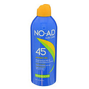 NO-AD Spray Sunscreen, SPF 45 Water Resistant